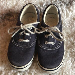 Navy Polo tennis shoes size 9
